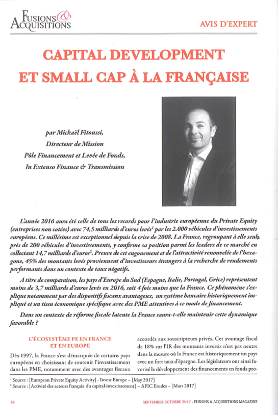 Capital Development et Small Cap à la française