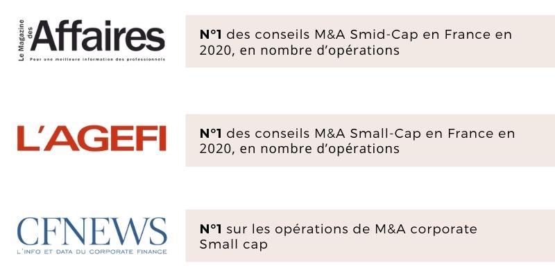 N°1 des classements de référence du conseil en fusions/acquisitions